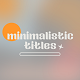 Minimalistic Titles - VideoHive Item for Sale