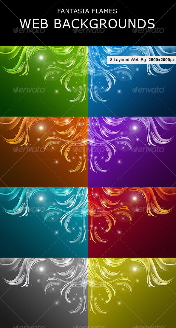 Fantasia Flames  Web Backgrounds - Backgrounds Graphics