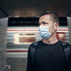 Man wearing face mask in underground station - PhotoDune Item for Sale