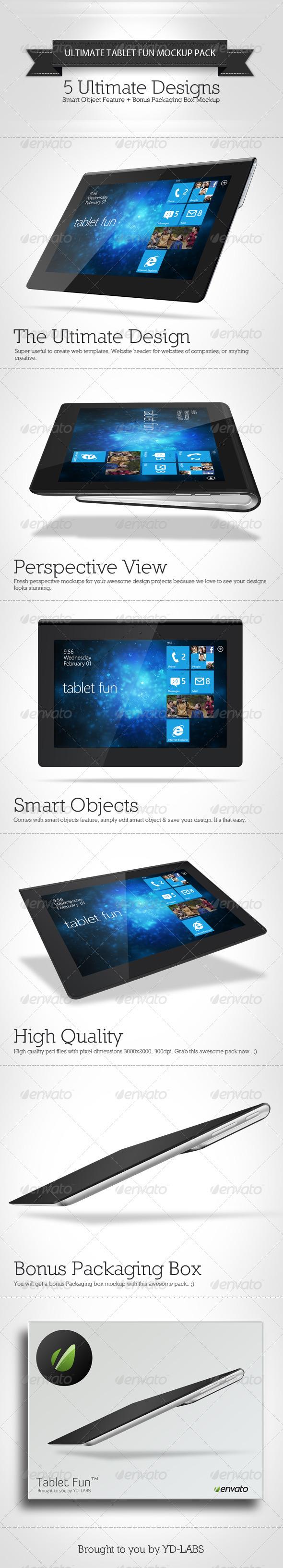 Tablet Fun Mockup Pack - Mobile Displays
