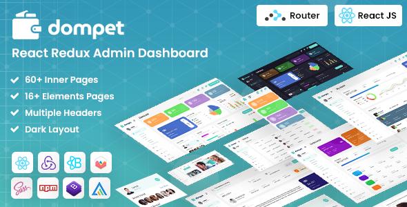 Dompet - React Redux Admin Template