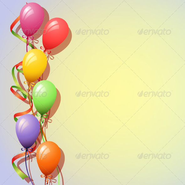 Balloons Background - Birthdays Seasons/Holidays