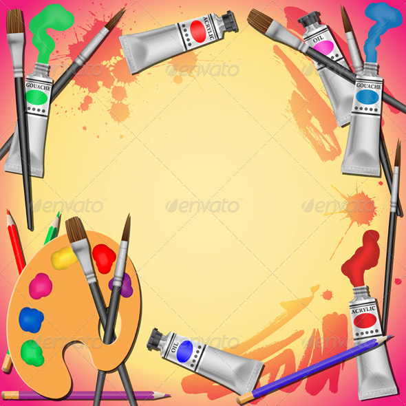 Art Equipment Background - Miscellaneous Vectors