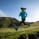 Young woman runner running at mountain top - PhotoDune Item for Sale