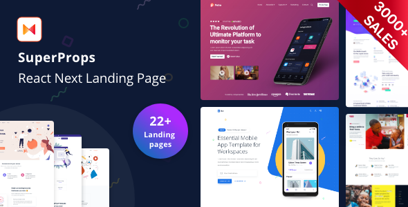 SuperProps - React Landing Page Templates with Next JS & Gatsby JS