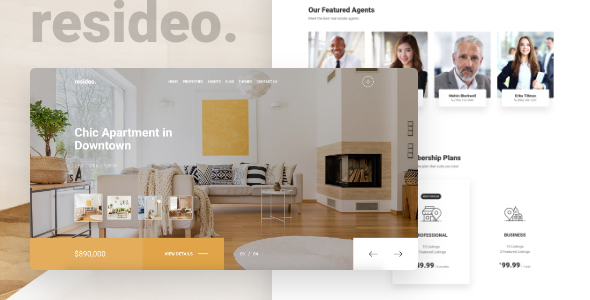 Awesome Resideo - Real Estate HTML Website Template