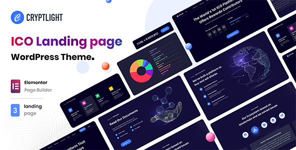 Download Cryptlight – ICO Landing Page WordPress Theme Free Nulled