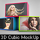 3D Cubic Box Display Mockup - GraphicRiver Item for Sale