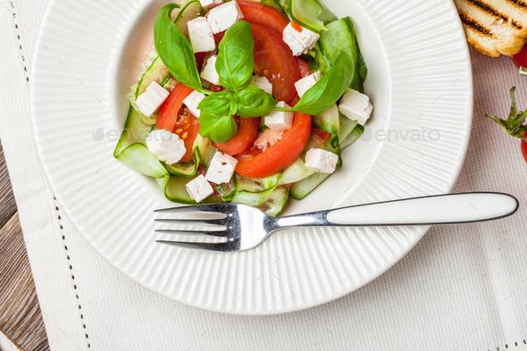 Fresh mediterranean salad. - Stock Photo - Images