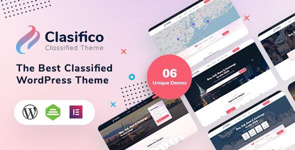 Extraordinary Clasifico - Classified Ads WordPress Theme