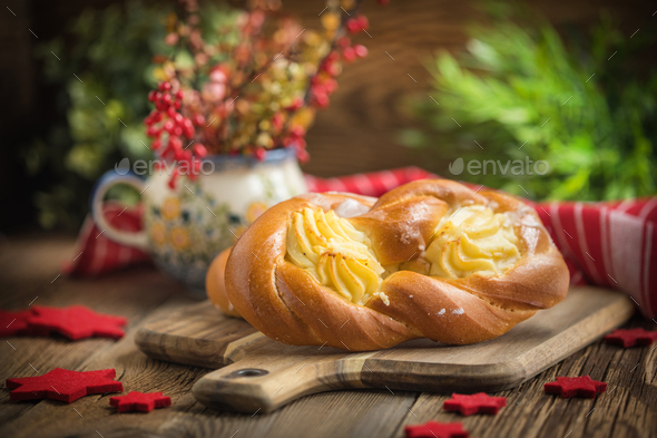 Sweet buns with cheese. - Stock Photo - Images