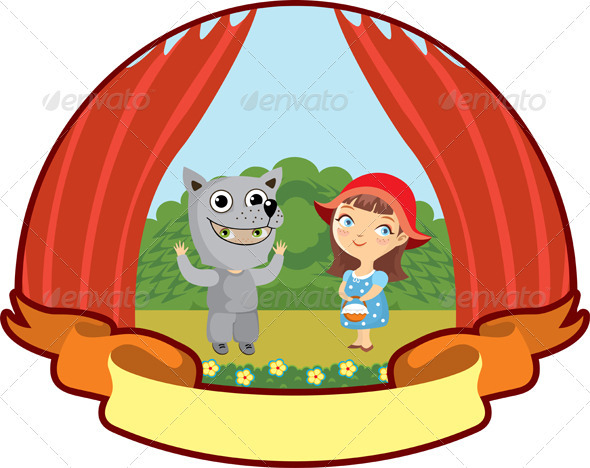Little Red Riding Hood Children Theater - Characters Vectors