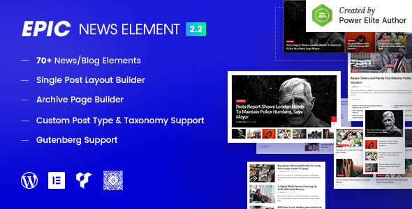 Epic News Elements - News Magazine Blog Element & Blog Add Ons for Elementor & WPBakery Page Builder