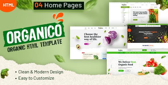 Organio - Organic Food Store Template