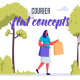 Courier - Flat Concept - VideoHive Item for Sale