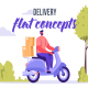 Delivery - Flat Concept - VideoHive Item for Sale