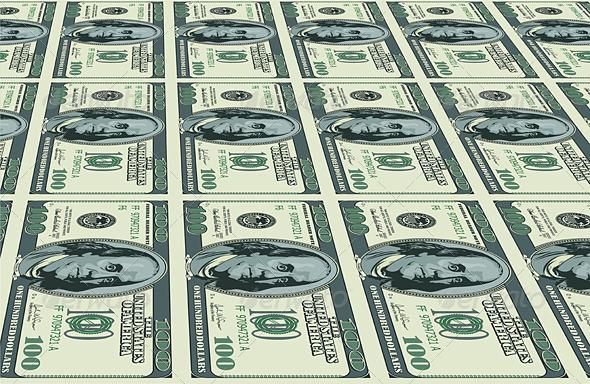 Dollars background - Characters Vectors