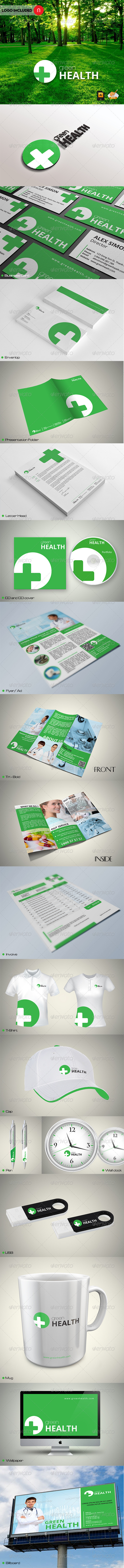 Green Health Corporate Identity - Stationery Print Templates