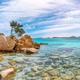 Enchanting view of Capriccioli beach in Costa Smeralda. - PhotoDune Item for Sale