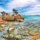 Astonishing view of Capriccioli beach in Costa Smeralda. - PhotoDune Item for Sale