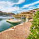 Awesome view on Palau port from popular travel destination Bear Rock (Roccia dell'Orso). - PhotoDune Item for Sale