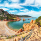 Breathtaking view of Li Cossi beach on Costa Paradiso resort. - PhotoDune Item for Sale