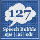 127 Speech Bubble - GraphicRiver Item for Sale