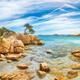 Breathtaking view of Capriccioli beach in Costa Smeralda. - PhotoDune Item for Sale