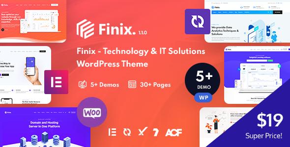 Finix - Technology & IT Solutions WordPress Theme