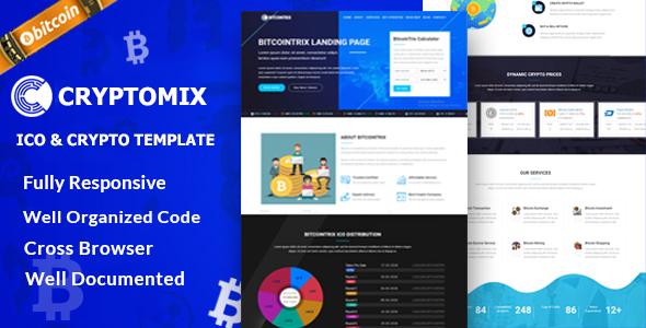 Cryptomix - Bitcoin, ICO & Crypto Template