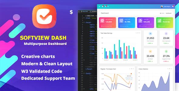 Softview - Admin Panel & Dashboard Template