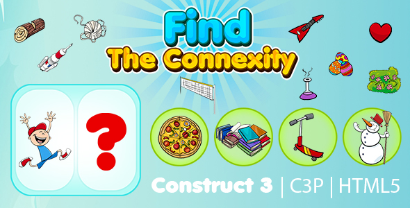 Find The Connexity Kids Learning Game (Construct 3   C3P   HTML5) Educational Game