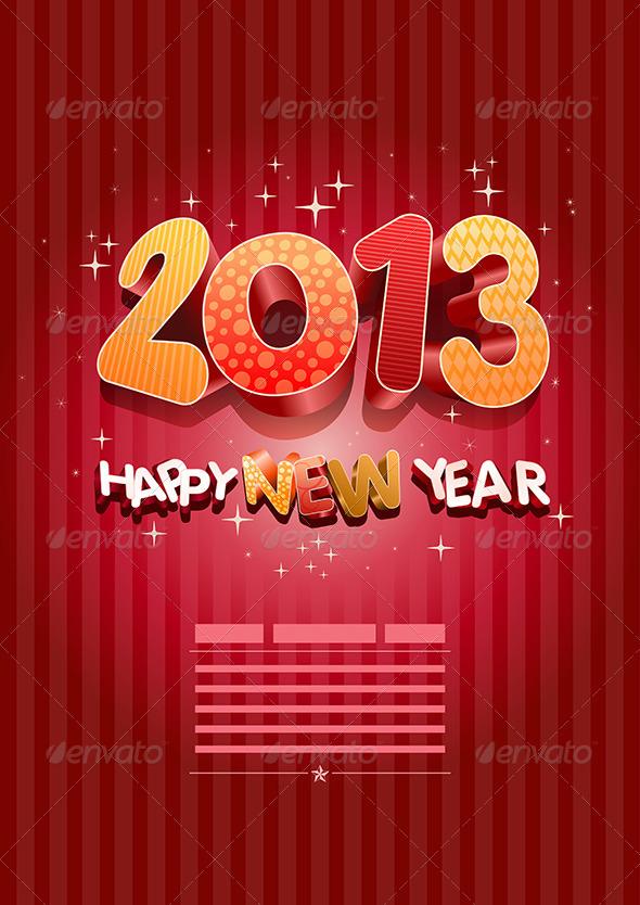 2013 Happy New Year - New Year Seasons/Holidays