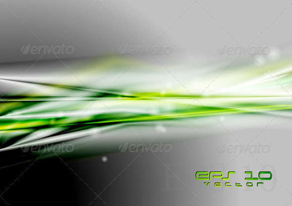 Abstract green vector design - Backgrounds Decorative