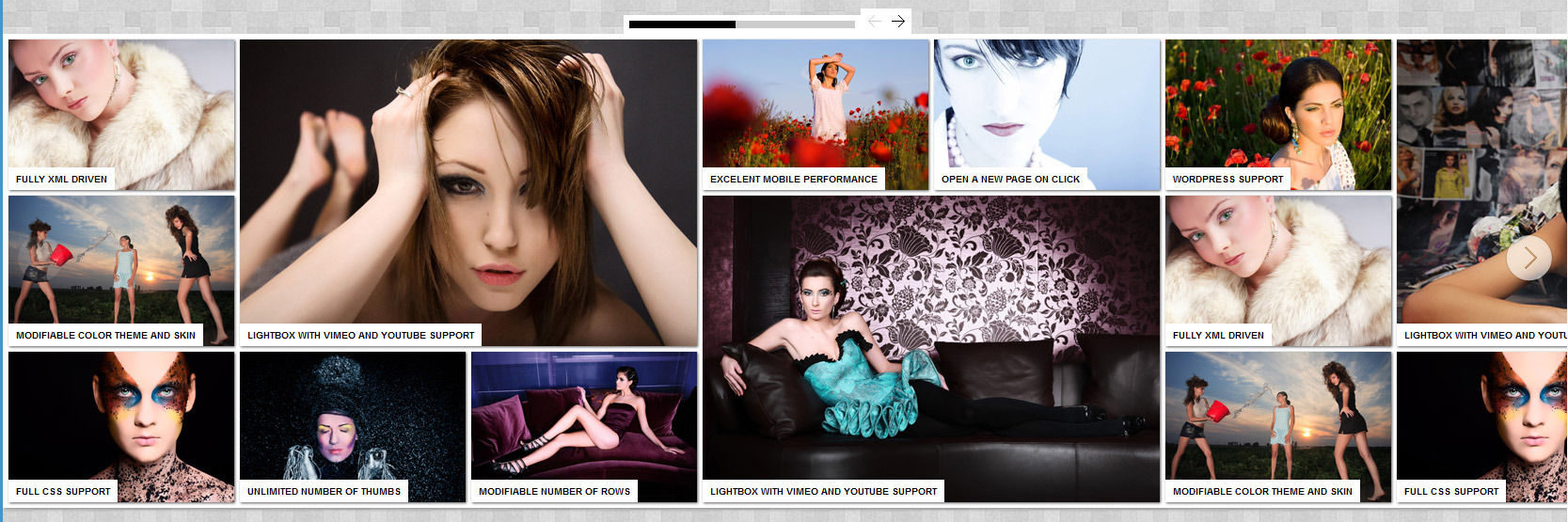 HTML5 Media Picture Gallery