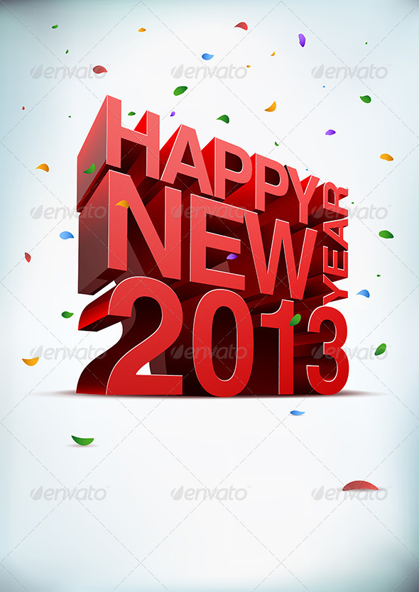 Happy New Year 2013 - New Year Seasons/Holidays