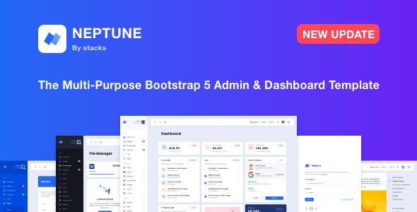 Super Neptune - Multi-Purpose Bootstrap 5 Admin Dashboard Template