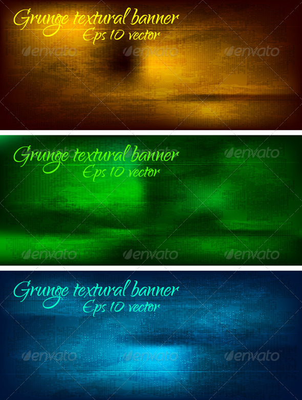 Abstract textural banners - Backgrounds Decorative