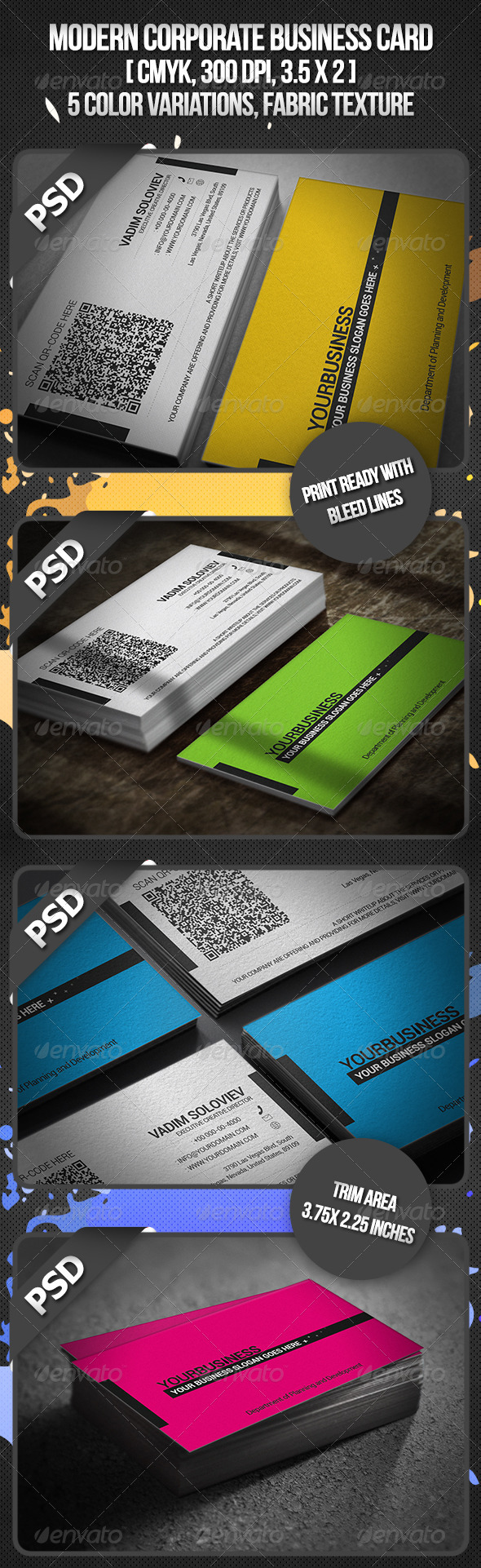 Modern Corporate Business Card - Corporate Business Cards
