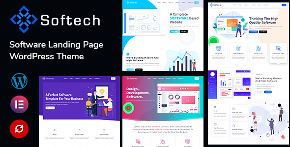 Softech - Software & Landing Page WordPress Theme