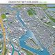 Zaanstad city Netherlands 3d model 25km