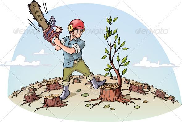 Destructing Forest - Nature Conceptual