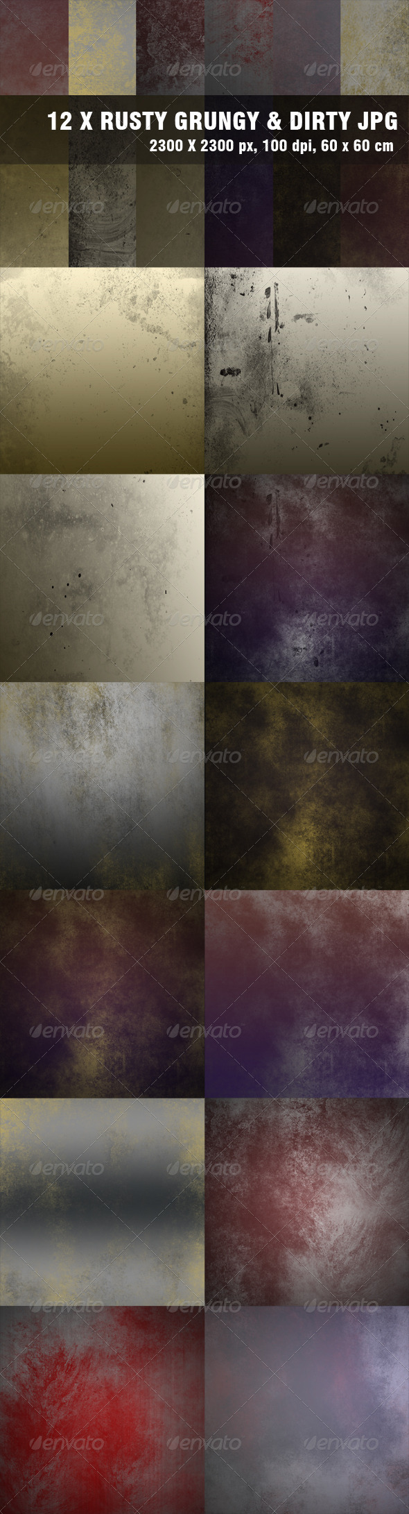 Grunge Metal Backgrounds - Miscellaneous Backgrounds