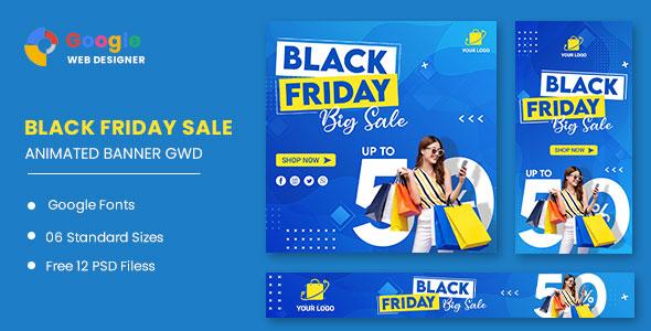 Black Friday Big Sale HTML5 Banner Ads GWD
