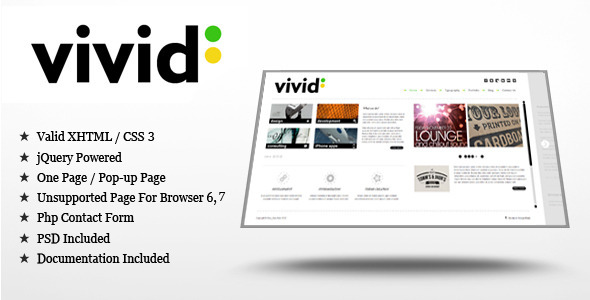 Vivid – jQuery/HTML Template