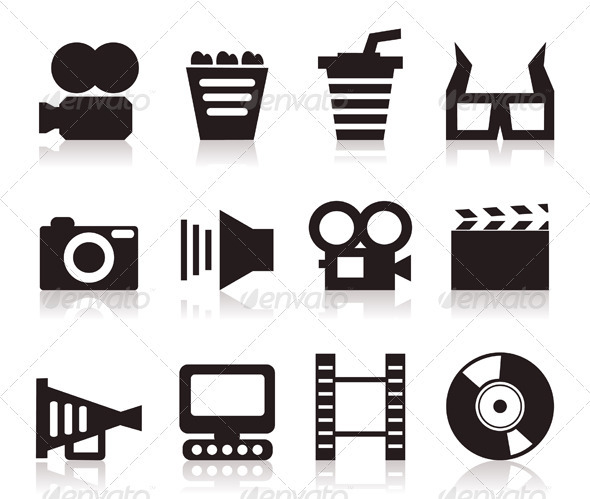 Cinema icons3 - Miscellaneous Vectors