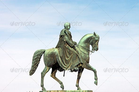King John of Saxony Statue - Stock Photo - Images