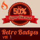 Retro Badges vol 1 - GraphicRiver Item for Sale