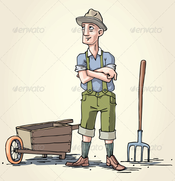 Farmer with the Wheelbarrow - People Characters