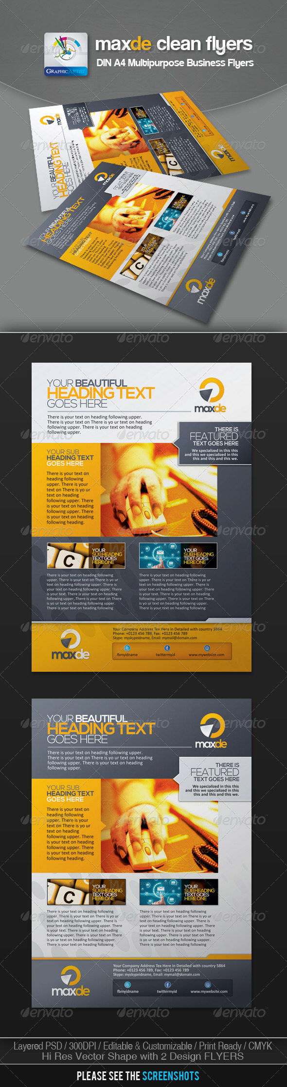 Maxde Clean Business Flyer/Ads - Corporate Flyers